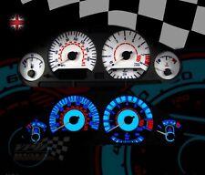 BMW E36 M3 TACHIMETRO OROLOGIO CRUSCOTTO INTERNI CUSTOM LAMPADINA kit di aggiornamento Quadrante Bianco