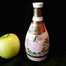 Wundervolle original japanische Kutani Vase Sakeflasche handbemalt
