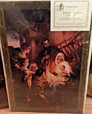 "Advent Calendar Nativity Scene - Turn of the Century - 17.5"" x 12.5"" In shrinkw"