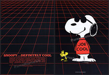 SNOOPY - JOE COOL__Original 1987 Trade Print AD / poster__Peanuts lic. toy promo