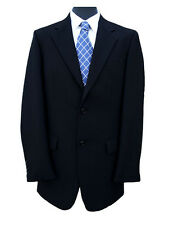 "Freemasons Black Herringbone Wool Jacket 44"" Long"