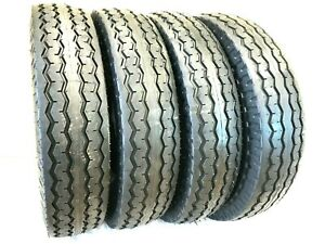 4 (Four) 8-14.5 ST New Trailer Tire 14 Ply Heavy Duty Highway Tubeless 14 PLY