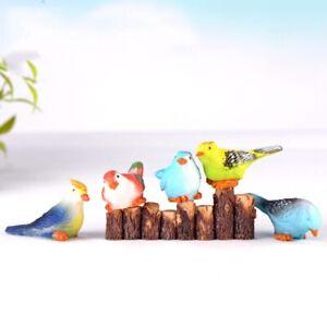 3pc Cute Miniature Fairy Figurines Mini Bird Garden Miniatures Artificial Random