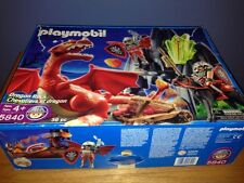 PLAYMOBIL 5840 Dragon Rock Used Complete +Extras Knights,Armor, Medieval, Magic