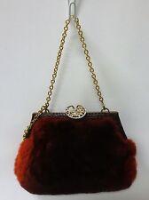ETRO Orange Degrade Fur Evening Handbag Clutch Baguette TRIPLE MINT CONDITION