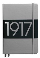 Leuchtturm 1917 Notebook Medium A5 Lined- Metallic Silver Hardcover Journal