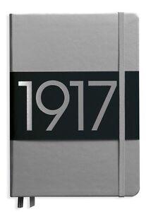 Leuchtturm1917 Notebook Medium A5 Lined- Metallic Silver Hardcover Journal