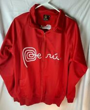 Villava Red And White Peru  Track Soccer Jacket Size M