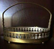 WMF Jugendstil Schale Henkelschale Durchbruchmust oval Glaseinsatz 1933 Gravuren