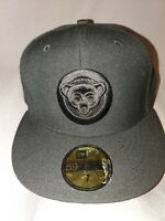 NEW ERA 59 FIFTY MLB CHICAGO CUBS BLACK BLACK FITTED HAT 7 NEW 20009256