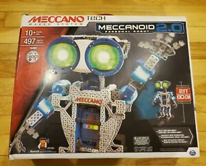 Meccano Meccanoid 2.0 Personal Robot 16402 STEM Build Smartphone Capable