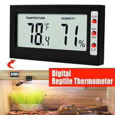 Digital Thermometer Wireless Reptile Lizard Gecko Bearded Snake Heating Humidity