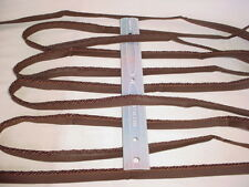 17Y D'KEI C1413 CHOCOLATE BROWN DOUBLE LIP CORD DRAPERY UPHOLSTERY TRIM