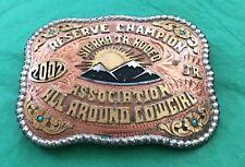 VTG 2002 RESERVE CHAMPION SIERRA JR. RODEO ALL AROUND COWGIRL TROPHY BELT BUCKLE