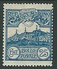 1903 SAN MARINO VEDUTA 25 CENT MH * - M4-9