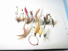 12 Dry and wet Flies for trouts and other small fishes- handmade by me in Canada