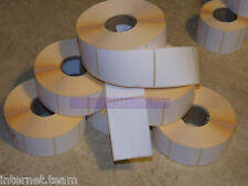 """5,000 WHITE Labels 100 x 76mm 4"""" X 3"""" for   Zebra Type Printer Direct thermal"""