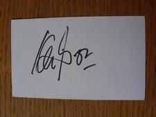 50's-2000's Autographed White Card: Foley, Kevin - Wolverhampton Wanderers