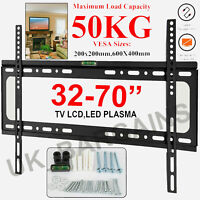 TV Wall Mount Bracket Slim Fixed For 32 40 45 50 55 60 65 70 Inch LCD LED Plasma