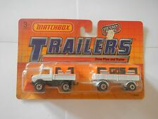 Matchbox Trailers Snow Plow and Trailer