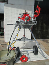 "Exc Ridgid 300 T2 Pipe Threader Machine Two 811 head 1/4""-2"" Complete set"