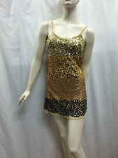 Otto Mode size S Gold Bronze Black Sparkly Sequinned Strap Party Dress