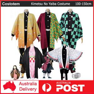 Kids Cosplay Anime Demon Slayer Kimetsu No Yaiba Costume Kimono Suit Dress Up