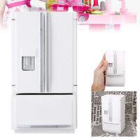 Miniature Wooden Fridge Refrigerator For 1/12 Dollhouse Kitchen Furniture US