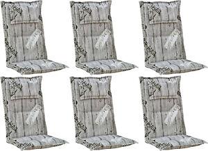 6x Kettler Polen Gartenmöbel Auflagen Hochlehner Kissen Einleger Gartenstuhl 778