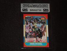 XAVIER McDANIEL 1986-87 FLEER ROOKIE SIGNED AUTOGRAPHED CARD #72 CAS AUTHENTIC
