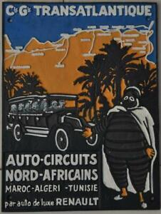 Vintage Style Cast Iron Wall Sign - Michelin Man North Africa - Hand Painted
