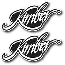 2X KIMBER DECAL STICKER 3M USA WINDOW CAR FIREARMS GUN RIFLE HUNTING WEAPON