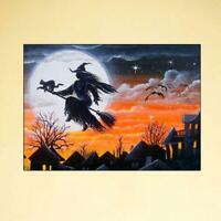 Halloween Witch 5D DIY Full Diamond Painting Embroidery Cross Craft Stitch Decor