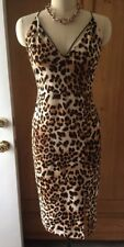 Iconic GUESS Leopard Animal Print Bodycon Cocktail Dress Size Large STUNNING!
