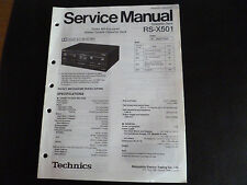 ORIGINALI service manual TECHNICS Cassette Deck RS-X 501