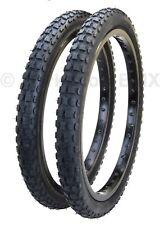 "Kenda K44 KNOBBY dirt old school BMX bicycle tires 20"" X 2.125"" (PAIR) BLACK"