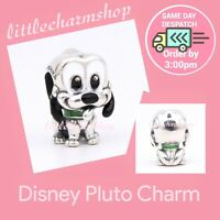 New Authentic Genuine PANDORA Sterling Silver Disney Pluto Charm - 798853C01