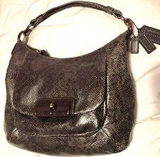 COACH F1120 18306 Kristin  Bronze  Python Embossed Leather Hobo Shoulder handBag