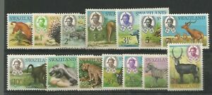SWAZILAND 1968 GENERALLY FINE MINT PART SET TO  1 RUPEE WITH HIGHER VALUES