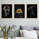 African Black Woman Canvas Painting Girl Poster Print Wall Art For Home Decor