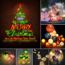 Battery Powered String Lights LED Ball Christmas Xmas Garden Outdoor Fairy Lamp
