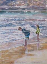 """Stordimento doranne Alden ORIGINALE """"At The Water's Edge 2015 Malta Seaside PITTURA"""