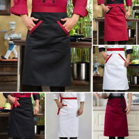 Unisex Chef Cooking Apron Kitchen Hotel Restaurant Waiter Pocket Work Uniform