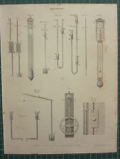 1803 DATED ANTIQUE PRINT ~ PNEUMATICS BAROMETER COMMON DR HOOK'S CHAMBER WHEEL