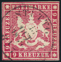 WÜRTTEMBERG, MiNr. 9 a, sauber gestempelt, gepr. Heinrich, Mi. 90,-