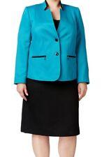 Tahari By Asl New Womens Blue Colorblock Skirt Suit  Plus   16W    $320
