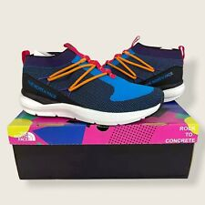 NEW The North Face Sumida Moc Knit Athletic Sneakers Shoes 11 Blue Aster Black