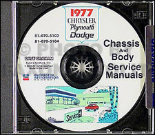 1977 Chrysler CD Shop Manual Cordoba Newport New Yorker Town and Country Service