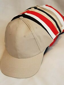 MEN'S LADIES 6 PANEL BASEBALL CAP WITH BUCKLE ADJUSTER SUN HAT CAP