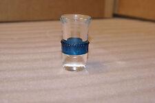 Vintage Deco Era Shot Glass Blue Band Blade Runner
